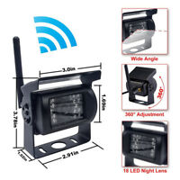 "4.3"" TFT LCD Monitor Car Rear View System Backup Reverse W/ Night Vision Camera"