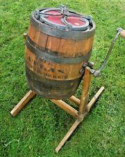 Vintage Rare Barrel Butter Churn Antique Atlas Rundin Martin