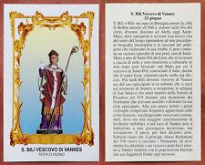 Santino Holy Card: S. San Bili Bily Vescovo di Vannes