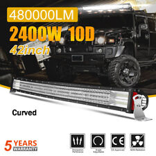 10D 42Inch LED Light Bar Curved Off Road Truck For Boat Ford SUV 4WD UTE 4x4 44""