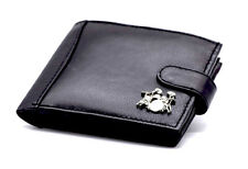 100% Leather Wallet with Drum Kit Motif - Music Gift - Drummers Gift