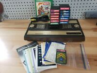 Intellivision Console Bundle **Super Low Serial # 1162** 14 Games and Overlays