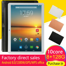 "10.1"" inch Tablet PC Android HD Pad 8+128G Dual SIM Dual Camera WiFi GPS Phablet"