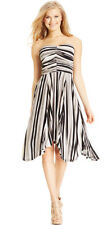 NEW Jessica Simpson/ Medium/ Multicolor Gray shade Shyla Strapless Ruched Dress