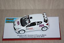 Peugeot 207 Division 4 Francis Marie Rallycross Essay sur Orne 2012 1/43e