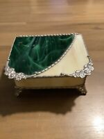Stained Glass Jewelry Box Measuring 5 X 4 X 2 1/2