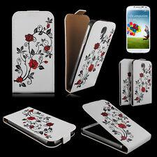 Sac téléphone portable Flip Case Housse samsung galaxy s4 gt-i9505/portable sac rose rouge