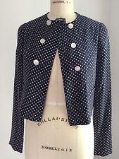 Ralph Lauren Collection Women's Polka Dot Blouse - Spring 2015 Sample Size
