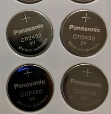 4 New Panasonic CR2450 CR 2450 Bulk Packaged Lithium Batteries 3V - USA SELLER