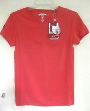 NWT Golf shirt M Short sleeve Red Orange Nylon Wicking Sports Antigua Cool Top