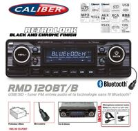 Autoradio Vintage Caliber Look Retro Black USB/SD (Sans CD) Bluetooth RMD120BT/B