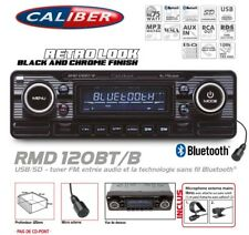 Autoradio Vintage Look Retro Black USB/SD (Sans Lecteur CD) Bluetooth Caliber