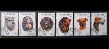 Lot de 6 timbres sur les chiens  : Tanzanie