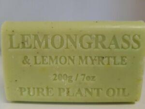200g Lemongrass Lemon Myrtle Natural Vegetable Oil Soap x 1 bar