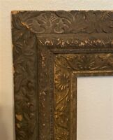 Antique Victorian Ornate Gilt Wood & Gesso Carved Picture Frame - 14 x 17""