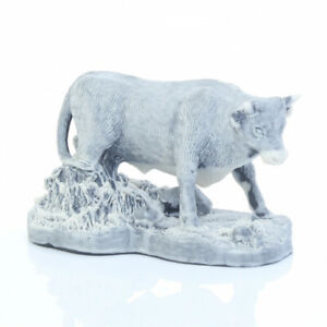 Bull in Nature Marble Figurine Unique Gift Manual Processing