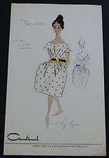 1950's/60's Vintage Fashion Design Original Print #1 Cardinal Fashion Studios