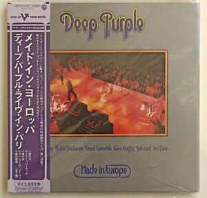 DEEP PURPLE - Made in Europe - CD MINI LP   JAPAN PRESS 2006 - Come nuovo