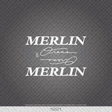 01221 Merlin Oreas Bicycle Stickers - Decals - Transfers - White