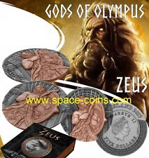 Niue 2017, Gods of Olympus, Zeus, 2oz silver, $5
