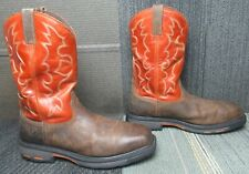 Mens ARIAT Workhog Square Toe Steel Toe Leather Work Boots 15 D