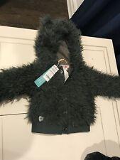 Boboli Baby Toddler Hooded Sweater Fur Jacket 12m