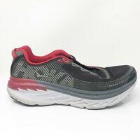 Hoka One One Mens Bondi 5 1014757 BFON Black Red Running Shoes Lace Up Size 11