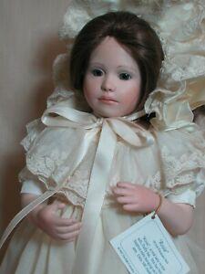 Jan Hagara Rosie Porcelain Doll Cloth Body with Stephen 18 inches