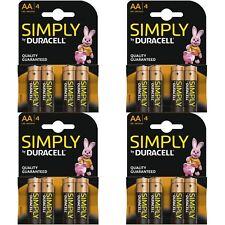 16 X Duracell Simply Aa 1.5v puissance Lot de Batteries Alcaline LR6 MN1500