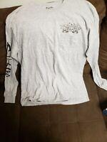 Genuine SALT LIFE, Large Grey, Long Sleeve, T-Shirt w/pocket
