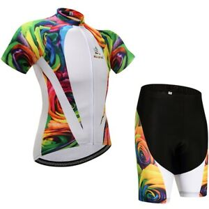 Rose Men Cycling Jersey Set Mountain Bike Clothing Set Size 3XL Chest 46.4''