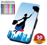 Mary Poppins Disney Printed Flip Phone Case Cover for iPhone Samsung And Huawei