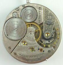 Waltham Pocket Watch Movement - 28 - Spare Parts / Repair