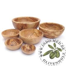 6er Set Schalen Schälchen Schale Servierschale aus Olivenholz Holz