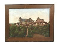 Antique 19th Century German Print of Burg An Der Wupper Solingen Germany