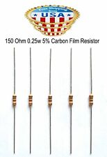 107 Ohm 1//8 Watt 1/% Metal Film Resistor Lot of 100 Pieces 270-107-RC