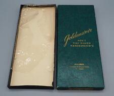 Vintage Goldenweve Hand Woven Handkerchiefs Empty Box Advertising Packaging