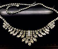 Antique Paste Necklace Choker Art Deco Dazzling Impeccably Elegant Circa 1919