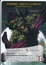 ZOMBIE GREEN GOBLIN 2015 Upper Deck Marvel Legendary SP  MASTERMIND