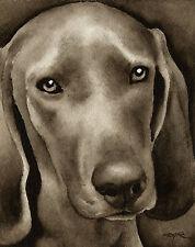 Redbone Coonhound Watercolor Art Print Signed by Artist Djr