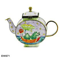 KELVIN CHEN Enamel Mini Copper Teapot - Frog