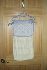 Baby Nursery French Yellow & Blue w/Applique Quiltin Star Fabric Diaper Stacker
