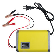 12V 6A Portable Intelligent Auto Car Motorcycle Battery Charger US/EU Plug LCD