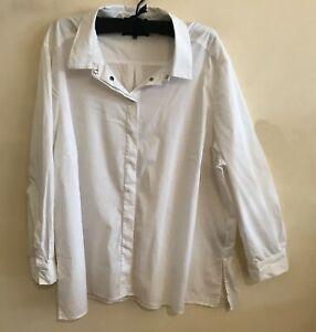 MAGGIE T White Stretch Shirt-Size 22