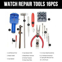 New 16x Watch Repair Tool Kit Band Strap Link Remover Back Opener Screwdriver