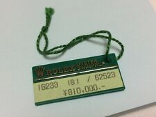 Rolex Vintage Oyster Swimpruf Green  Price Hang Tag