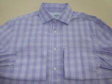 "Solid Clothing Taglia 19.5/"" BLU /'Jermyn Street/' 2-fold mini h/'bone Camicia con collegamenti"