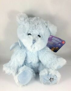 """8"""" Russ Berrie Shining Stars Blue Bear Plush Stuffed Toy NEW with Sealed Code"""