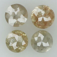 Natural Loose Diamond Brown Grey Color  Round I3 Clarity 4 Pcs 0.89 Ct KR241