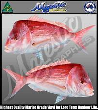 SNAPPER - 410mm x 200mm - MIRRORED PAIR - BOAT DECALS